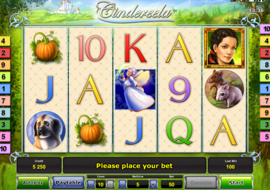 Cindereela zdarma online automat