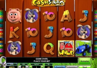 Online casino automat Cash Farm od Novomatic