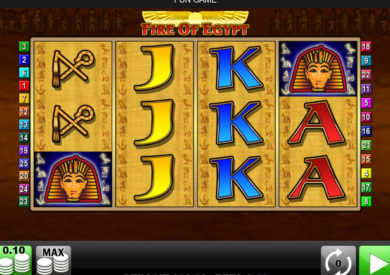 Casino automat Fire of Egypt zdarma
