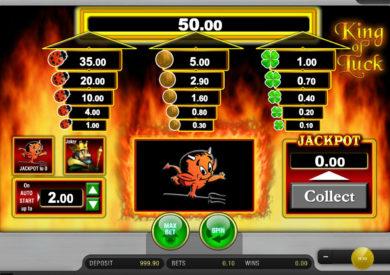 Online herní automat King of Luck zdarma