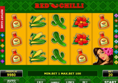 Casino automat Red Chilli zdarma