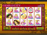 Online casino automat Gems and the City