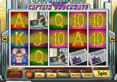 Zahrajte si online casino automat Captain Shockwave