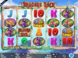 Roztočte válce online casino automatu Dragons Rock