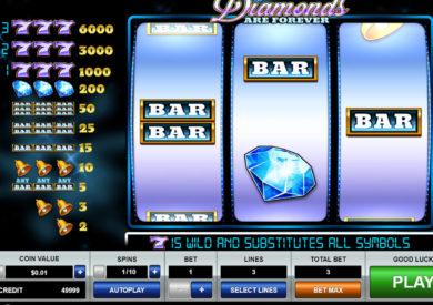 Herní automat Diamonds Are Forever bez stahování