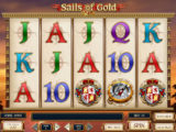 Online casino automat Sails of Gold zdarma, bez vkladu