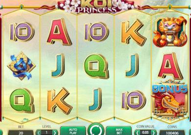 Obrázek z herního automatu Koi Princess