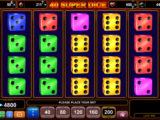 Online casino automat 40 Super Dice bez vkladu