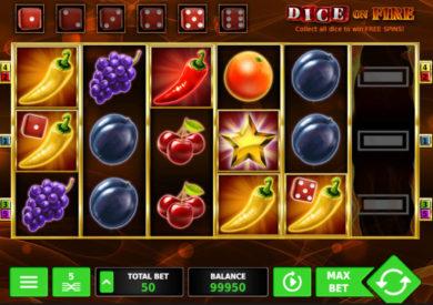Casino automat Dice on Fire bez registrace
