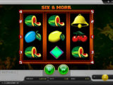 Zábavný online casino automat Six and More zdarma