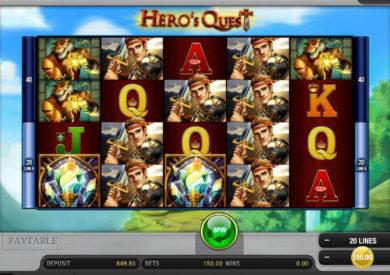 Online casino automat Hero´s Quest bez stahování