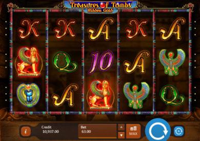 Online herní automat Treasures of Tombs: Hidden Gold