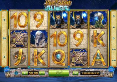 Online casino automat Pharaohs and Aliens zdarma