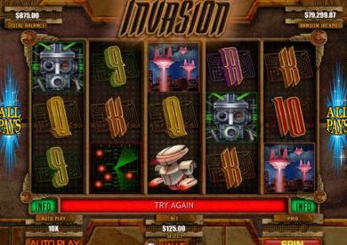 Roztočte online casino automat Invasion zdarma