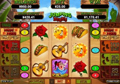 Zábavný casino automat Jumping Beans