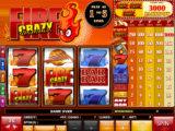 Obrázek online casino automatu Crazy Fire