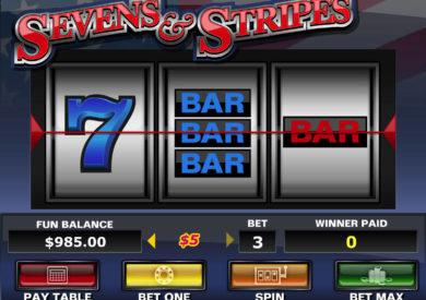 Casino automat Sevens and Stripes zdarma
