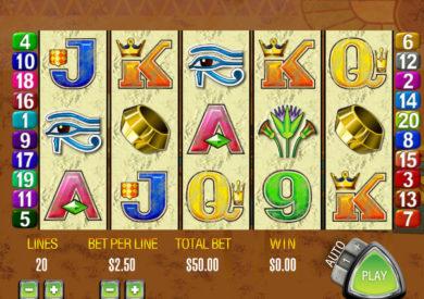 Casino automat Queen of the Nile online od vývojářské společnosti Aristocrat