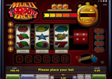 Online casino automat Multi Dice bez registrace