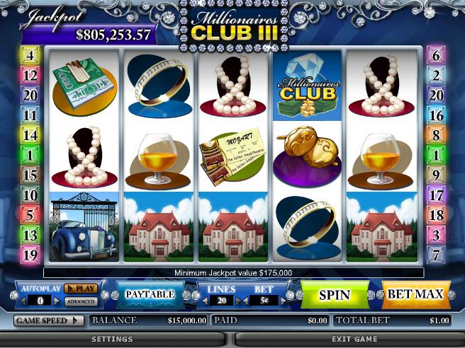 Millionaires Club III – bedste online spillemaskine