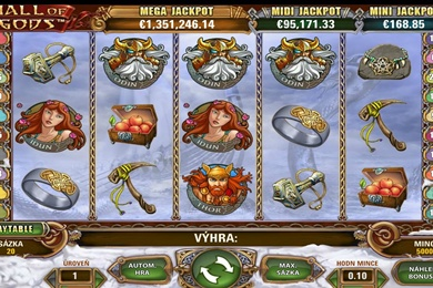 Online casino automat Hall of Gods zdarma bez registrace