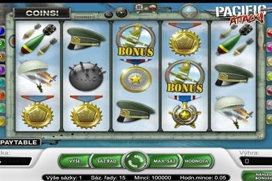 Herní casino automat Pacific Attack online zdarma