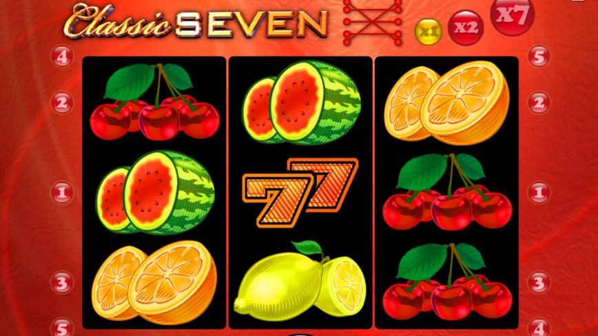 Zahrajte si online casino automat Classic Seven zdarma