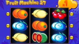 Casino automat Fruit Machine 27 zdarma online