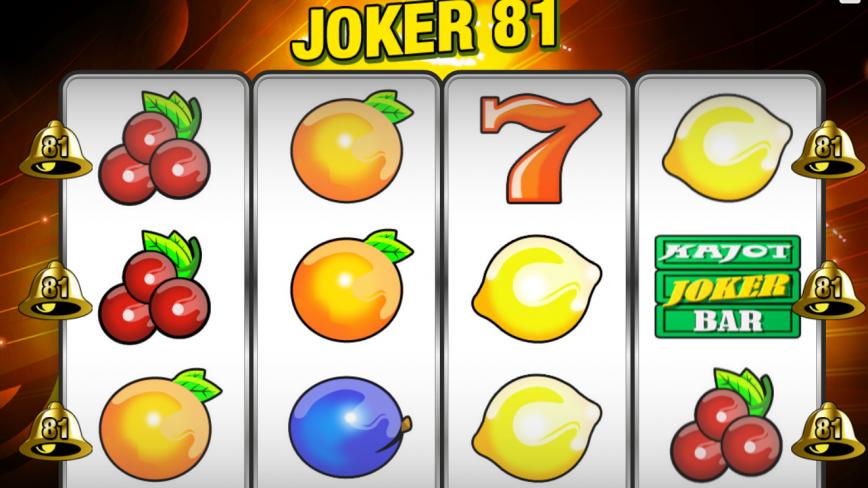 Automat čtyřválcový Joker 81 zdarma online
