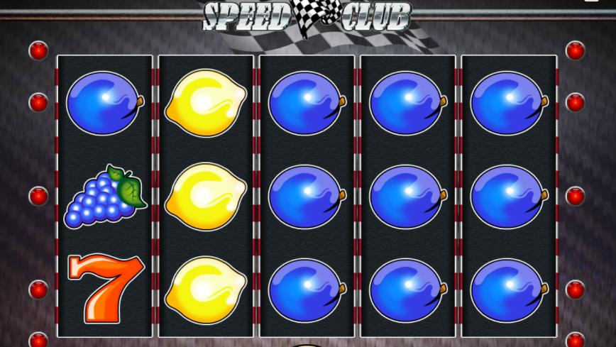 Online casino automat Speed Club bez vkladu
