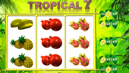 Casino automat Tropical 7 online zdarma