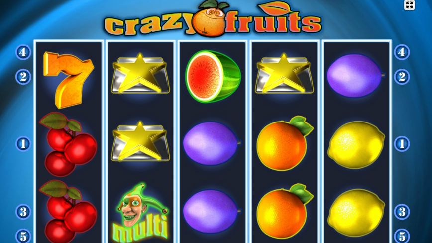 Online casino automat Crazy Fruits