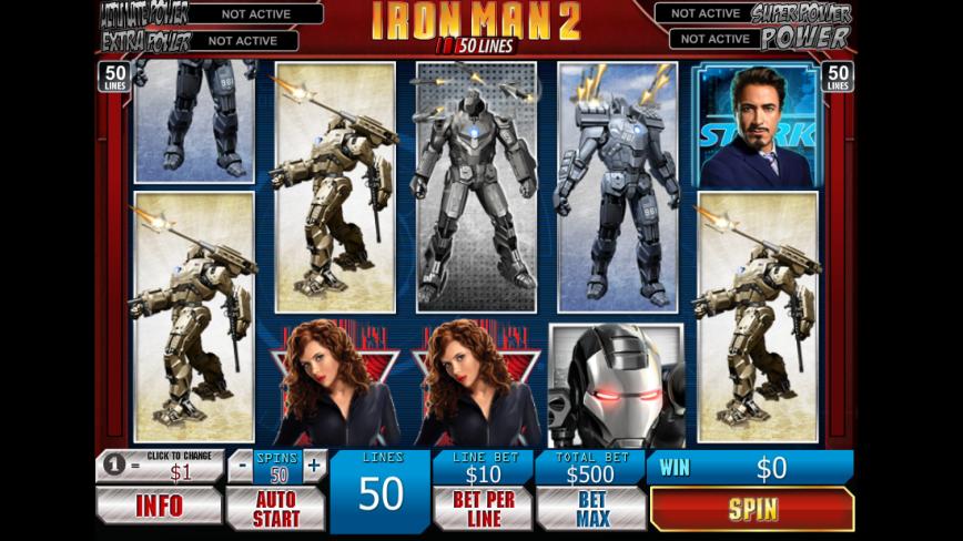 Herní online automat Iron Man 2