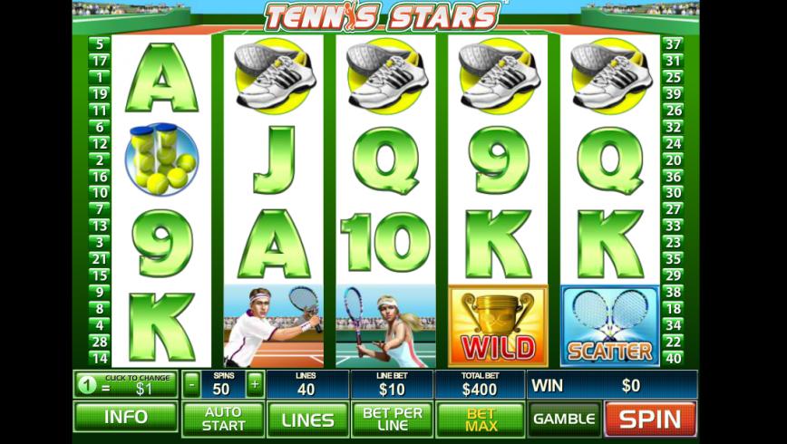 Online casino hrací automat zdarma Tennis Stars