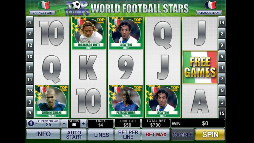 Top Trumps World Football Stars herní online automat zdarma