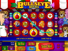 výstřižek z automaty Bullseye bucks online zdarma