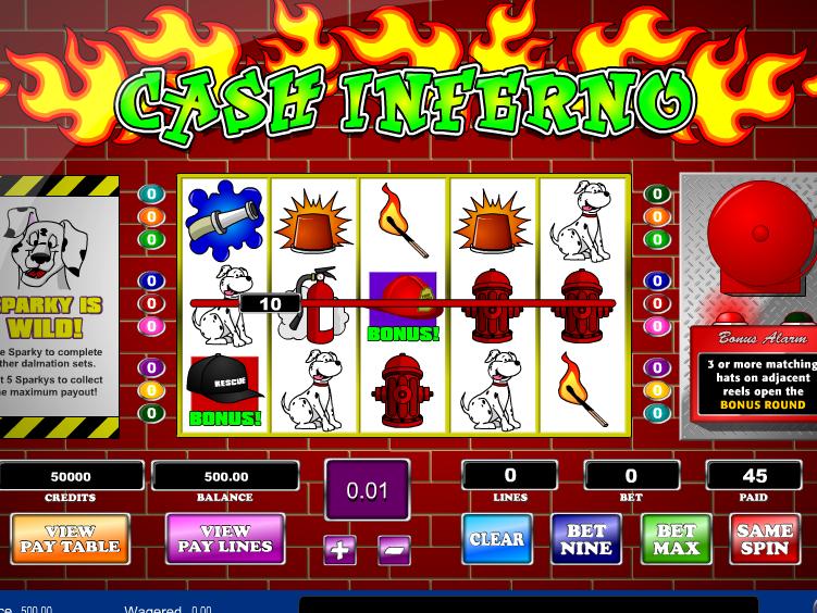Obrázek ze hry Cash Inferno online zdarma