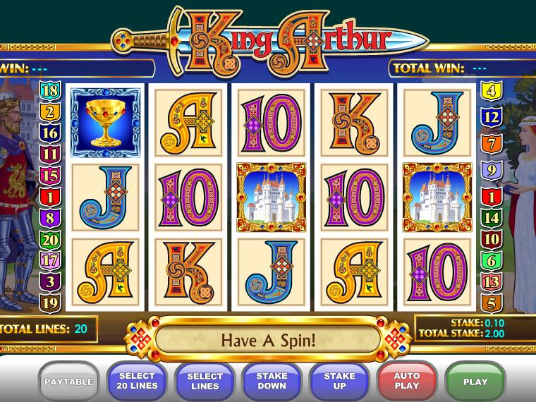 obrázek automatu King Arthur online zdarma