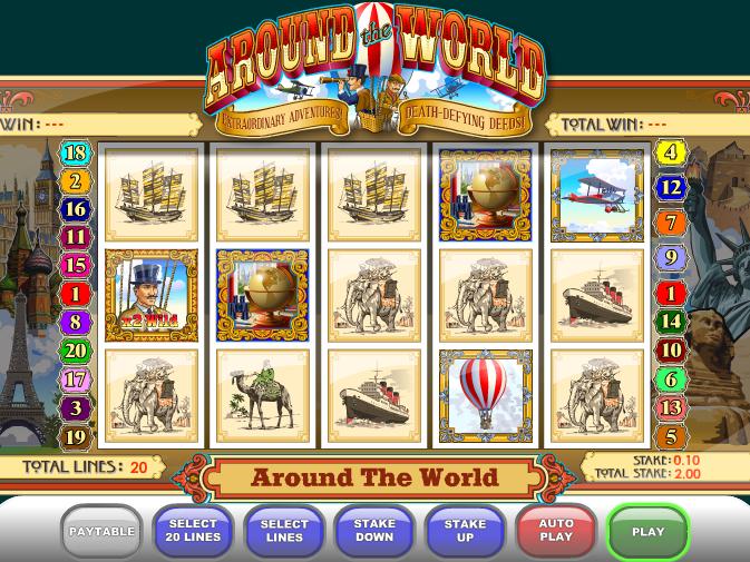 automat Around the world onlize zdarma obrázek ze hry