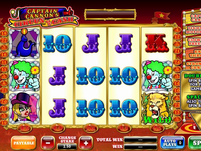 obrázek automat circus of cash online zdarma