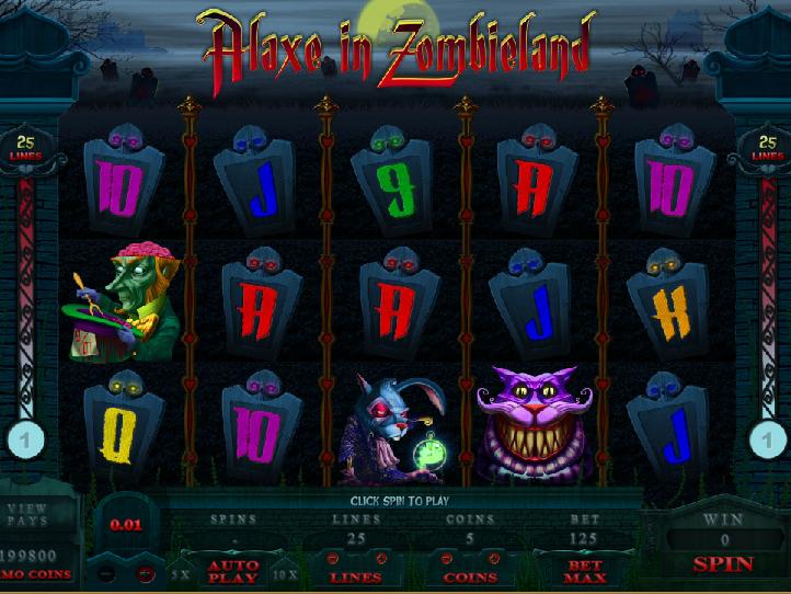 obrázek automatu Alaxe in Zombieland zdarma online