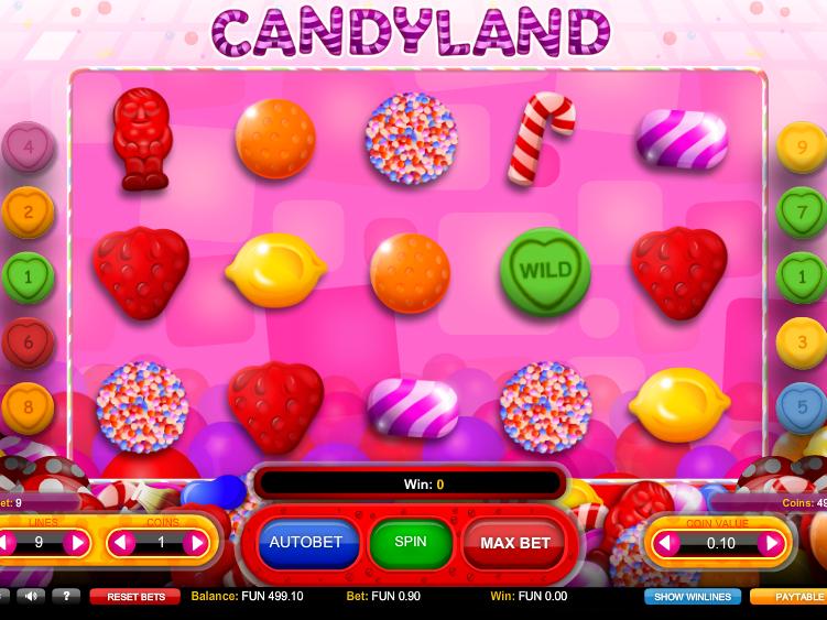 obrázek z automatové hry Candyland online zdarma