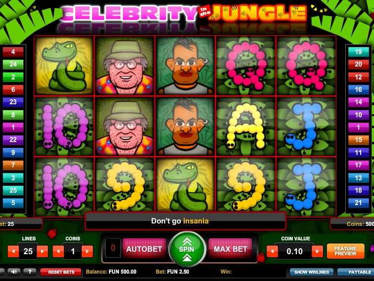 obrázek automatu Celebrity Jungle online zdarma