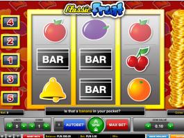 obrázek ze hry automatu Classic Fruit online zdarma