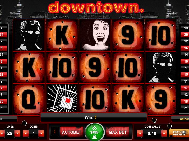 obrázek z automatu Downtown online zdarma