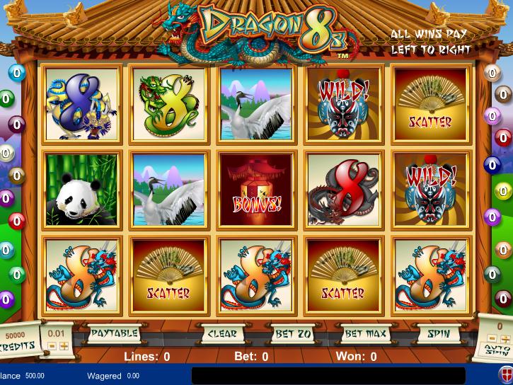 obrázek automatu Dragon 8s online zdarma