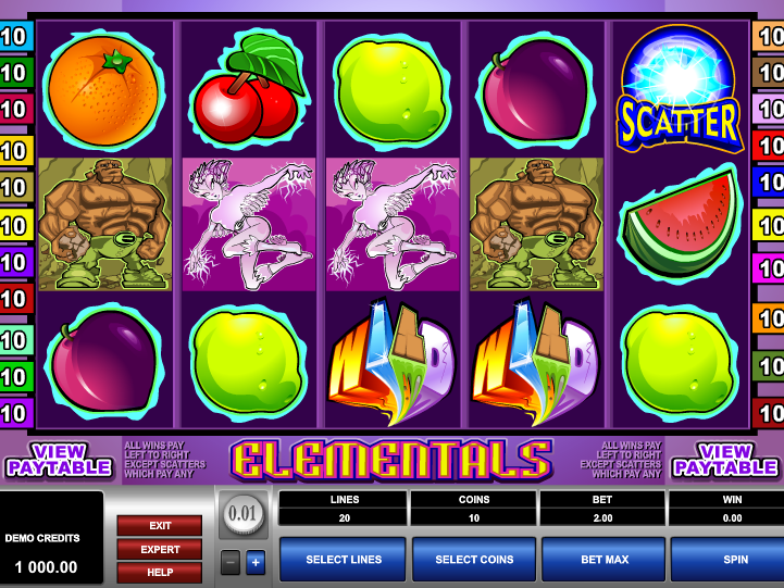 obrázek automatu Elementals online zdarma