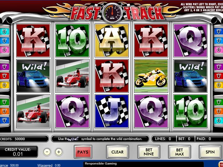 obrázek online automatu zdarma Fast Track