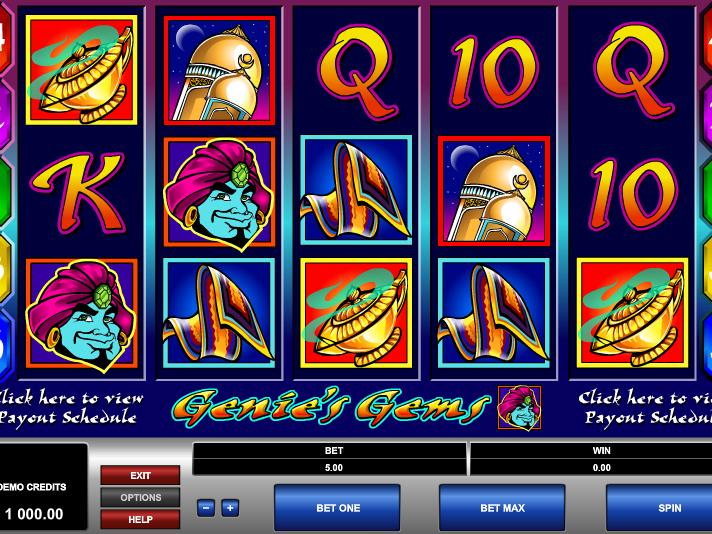 obrázek ze hry automatu Genie´s Gems online zdarma