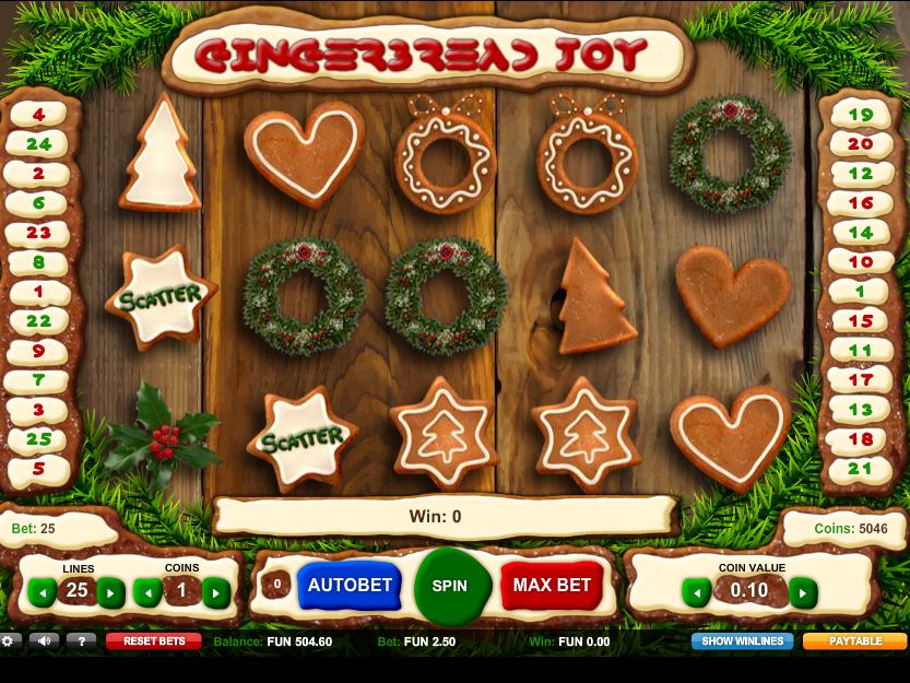 obrázek automatu Gingerbread Joy online zdarma